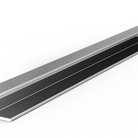 Carril H 163 cristal 5 mm
